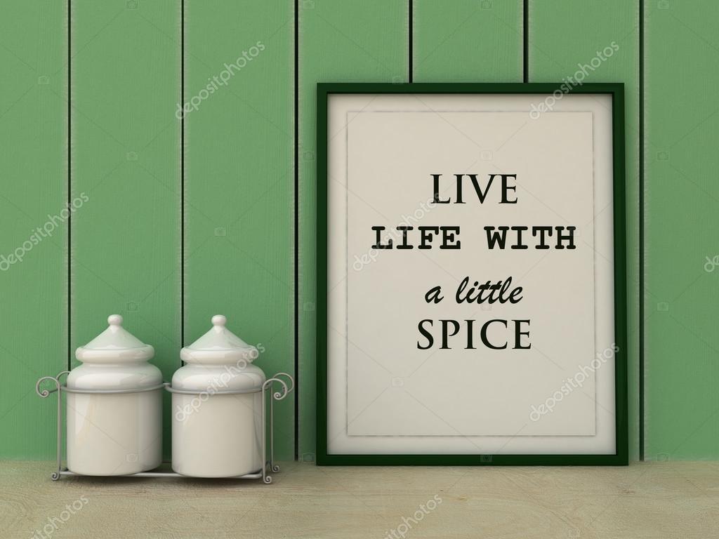 Motivation ord lever livet med lite krydda. Kul, lycka koncept ...