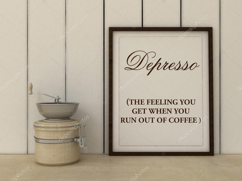 Depresso Kuchen Kunst Plakat Kaffee Liebhaber Kunst Buro Dekor