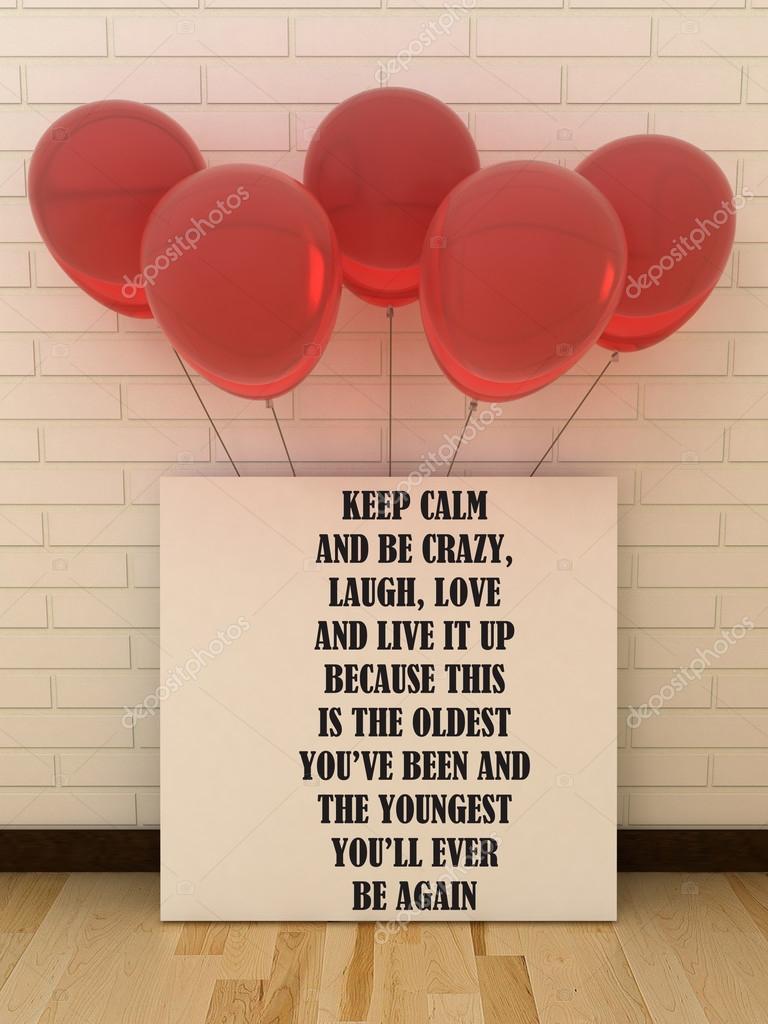 Grußkarte Plakat Alles Gute zum Geburtstag. Das Leben, Glück Konzept ...