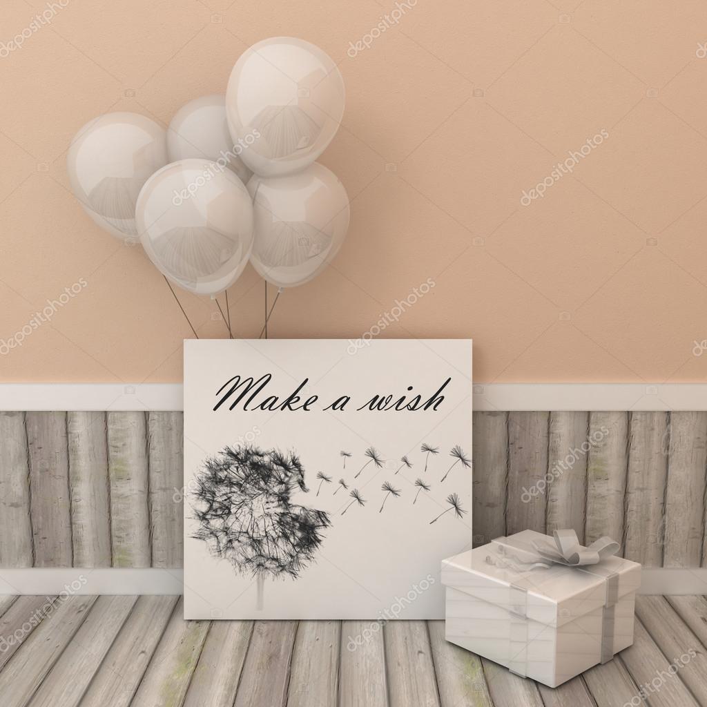 Grußkarte Plakat Alles Gute zum Geburtstag, machen einen Wunsch ...