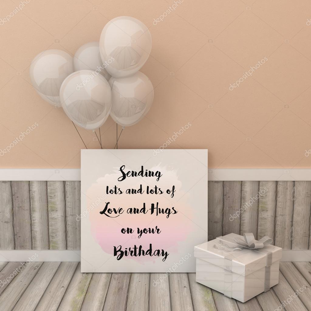Grußkarte Plakat Senden viel Liebe und Umarmungen auf Ihrem ...