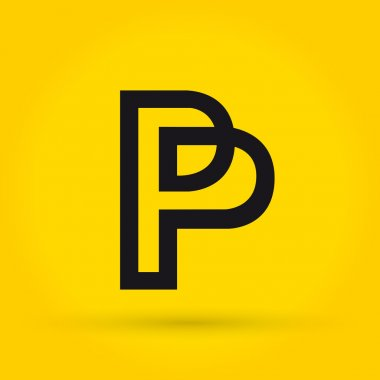 P letter logo vector