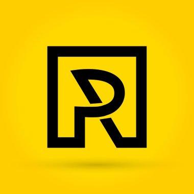 P R Letter Logo