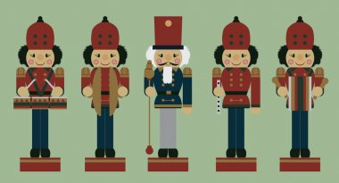 set of christmas musician nutcrackers