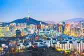 Photo Seoul city skyline in South Korea