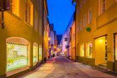 Město Füssen v Bavorsku, Německo