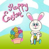 Šťastné Velikonoce ilustrace