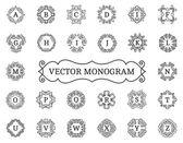 Fotografie Elegantní vektor monogram kolekce