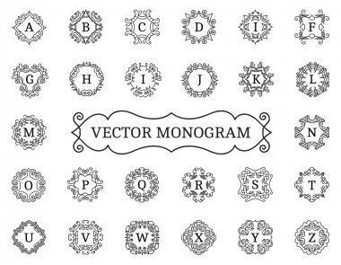 Elegant vector monogram collection