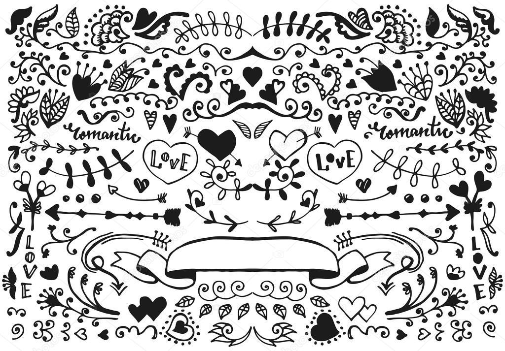 Vector sketch elements set