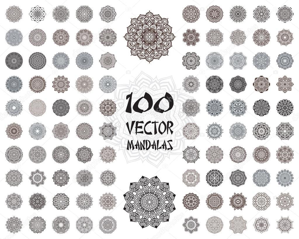Vector mandala ornaments set