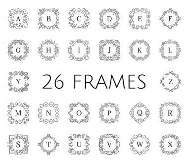 Vintage floral frame set