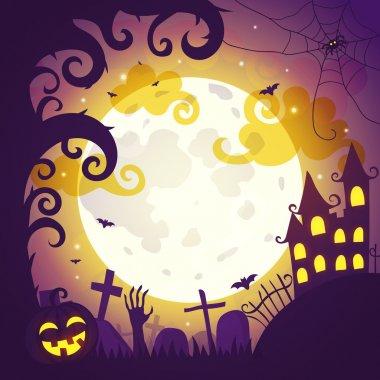 Halloween art illustration.