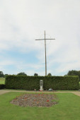 cross in lidice, czech republic