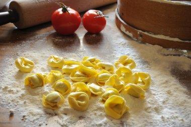 Italian ravioli with ricotta and vegetables