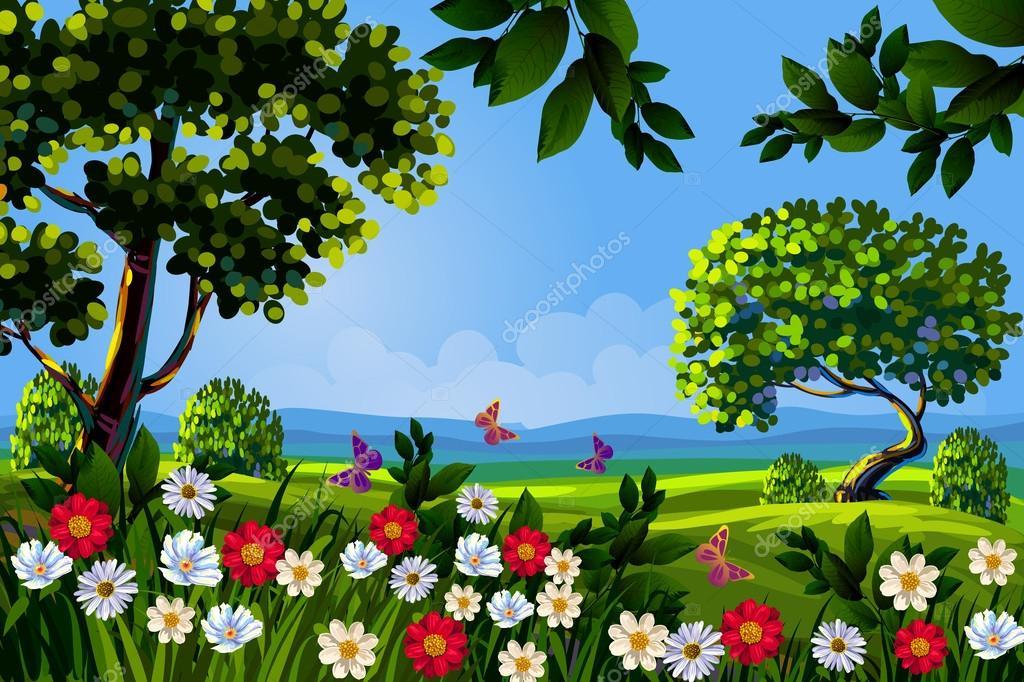 Imagenes De Paisajes De Primavera: Paisaje De Primavera Hermosa