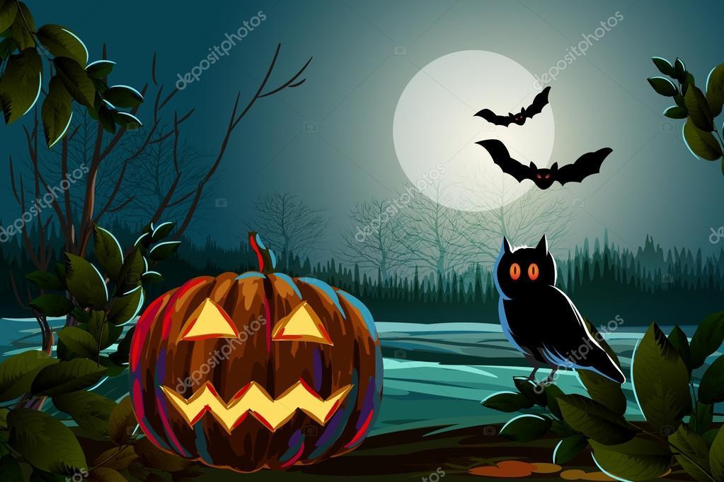 Spooky Halloween Background — Stock Vector © vedvid_ARTS #62432073