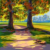 Fotografie schöne handgezeichnete Landschaft