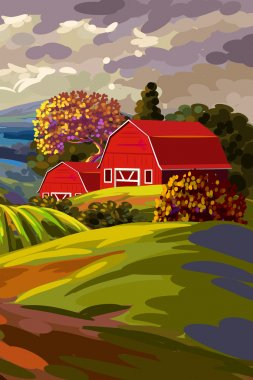 Beautiful country landscape