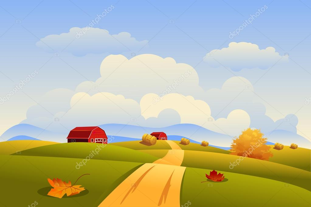 Autumn Countryside Landscape