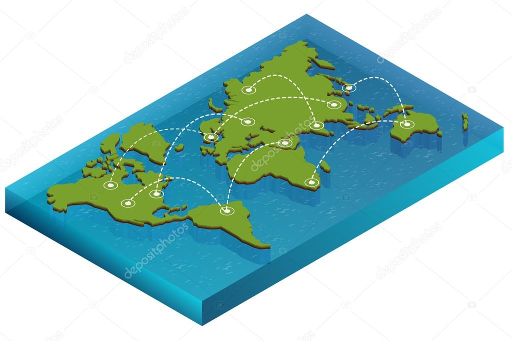 Map world isometric concept 3d flat illustration of map world map world isometric concept 3d flat illustration of map world vector world map connection political world map isometric 3d world map infographic gumiabroncs