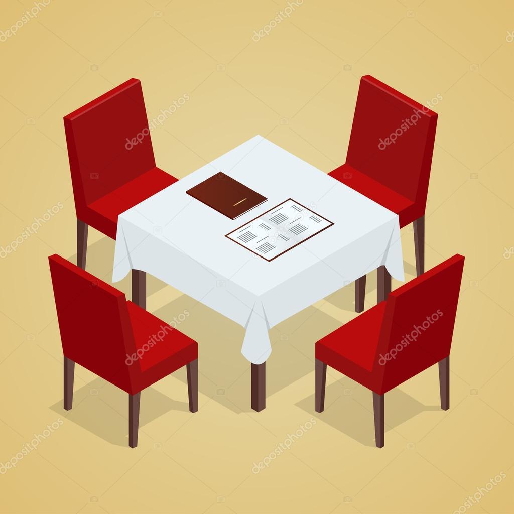 Mesa Con Sillas Para Cafeterías Mesa Y Sillas En Fondo Blanco