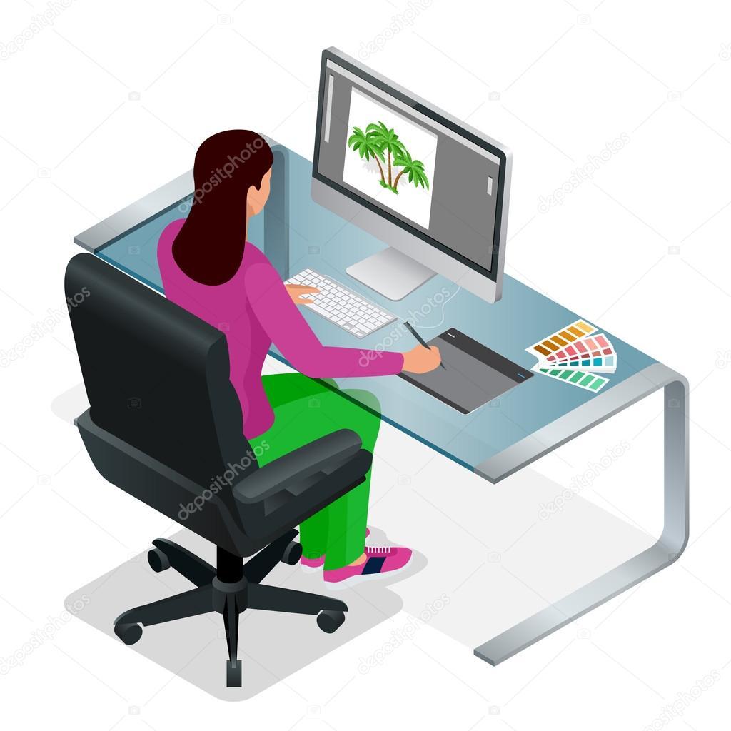 Graphiste ou l artiste au travail quelque chose de dessin for Bureau tablette