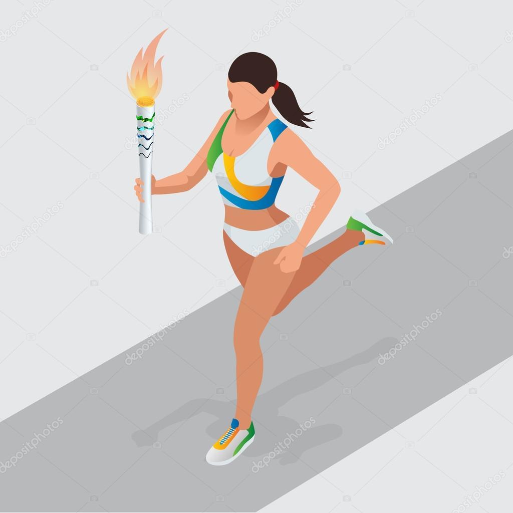 картинка спортсмен бежит с факелом три месяца
