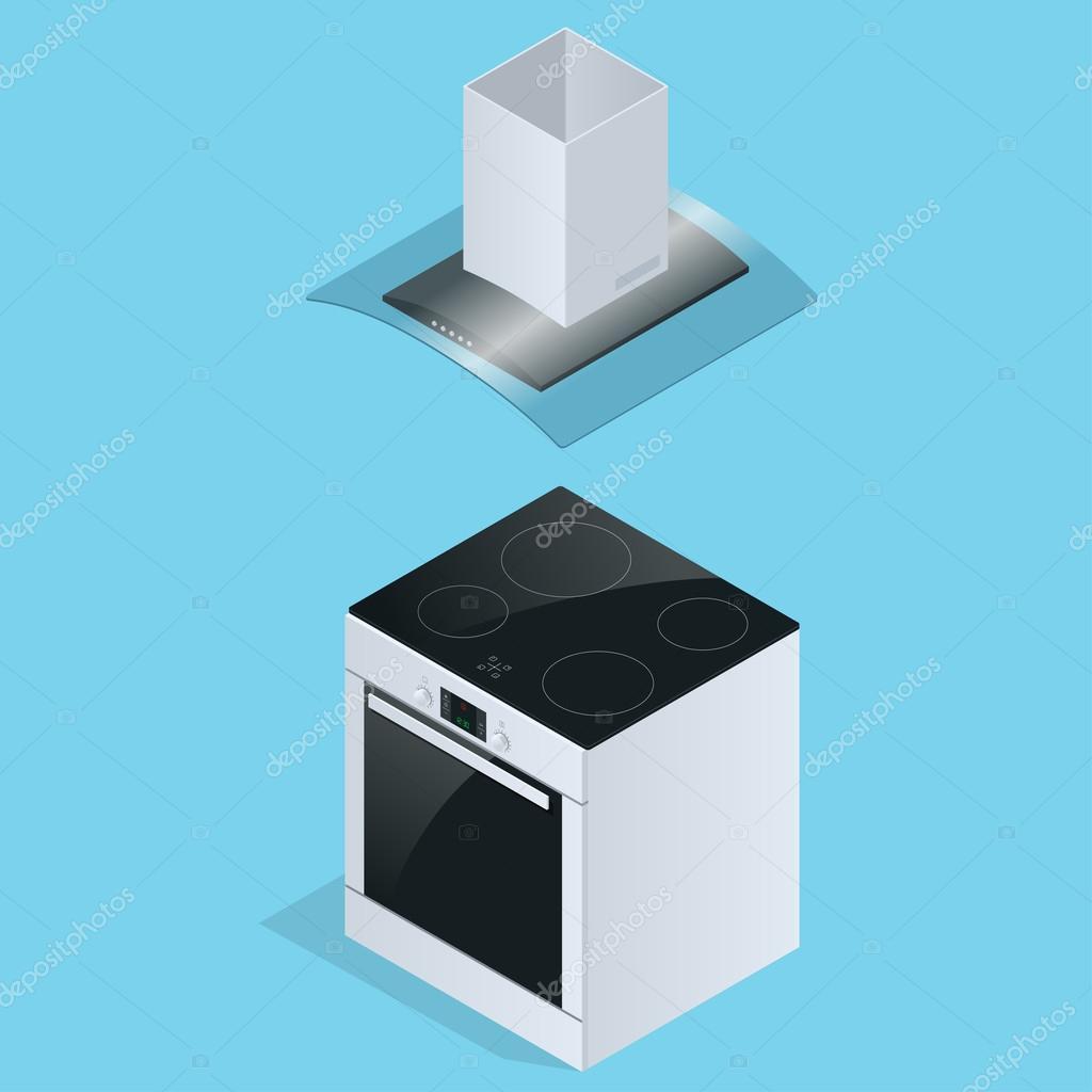aspirante et plaque de cuisson électrique pour illustration de
