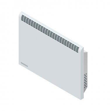Isometric white Convector Heater. Home Heating appliances icons. Household appliances clip art vector