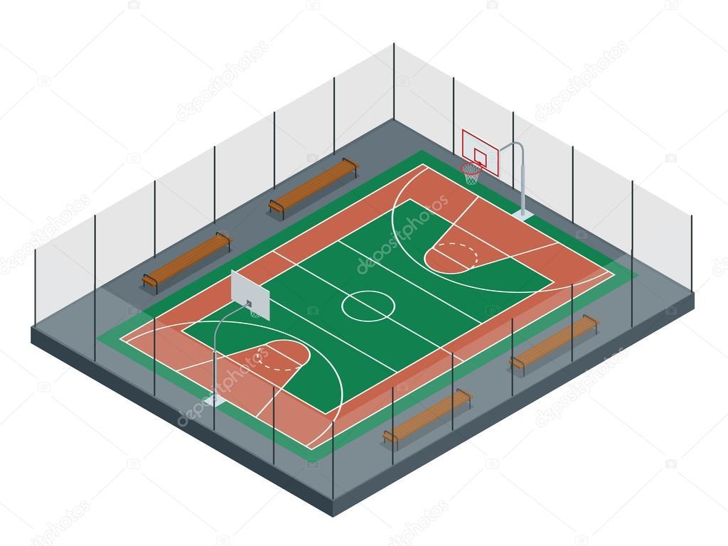 cancha de baloncesto arena del deporte fondo de 3d basketball court vendors basketball court vector image