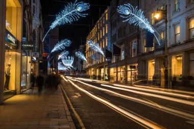 Christmas lights on New Bond Street, London UK