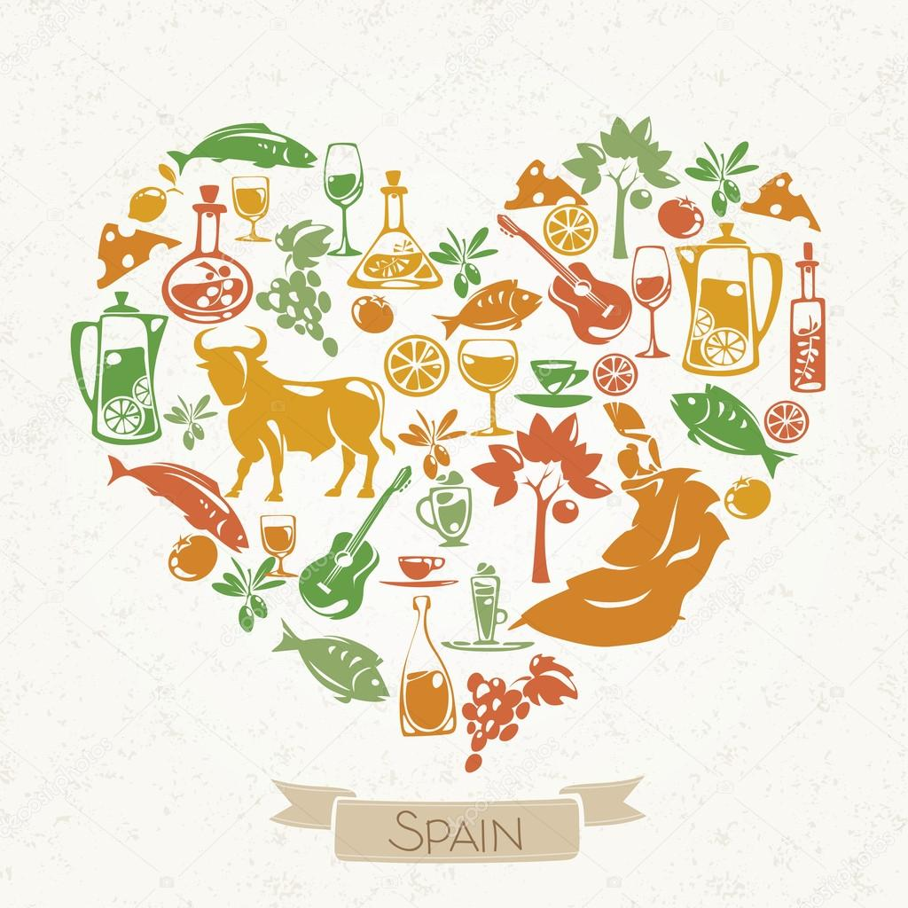 Pattern with symbols of spain stock vector giraffarte 121873828 pattern with symbols of spain stock vector buycottarizona Images