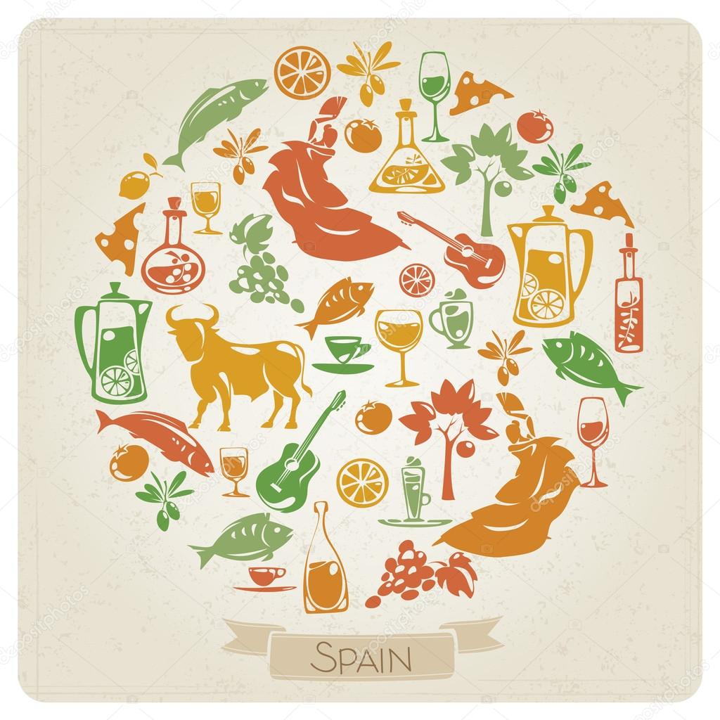 Pattern with symbols of spain stock vector giraffarte 64068241 pattern with symbols of spain stock vector buycottarizona Images