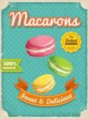 Macarons plakát v retro stylu