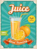Fotografie Juice poster in vintage style