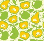 jablka a hrušky bezešvé vzor