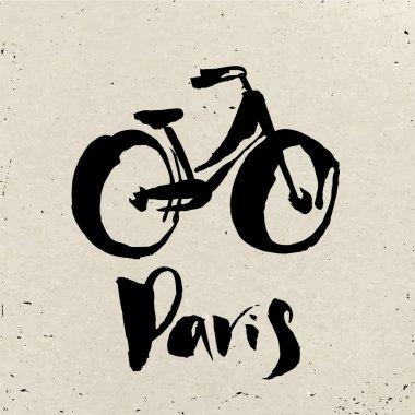 Bike and Paris inscription