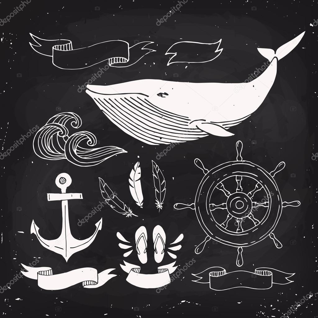 Nautical elements design.
