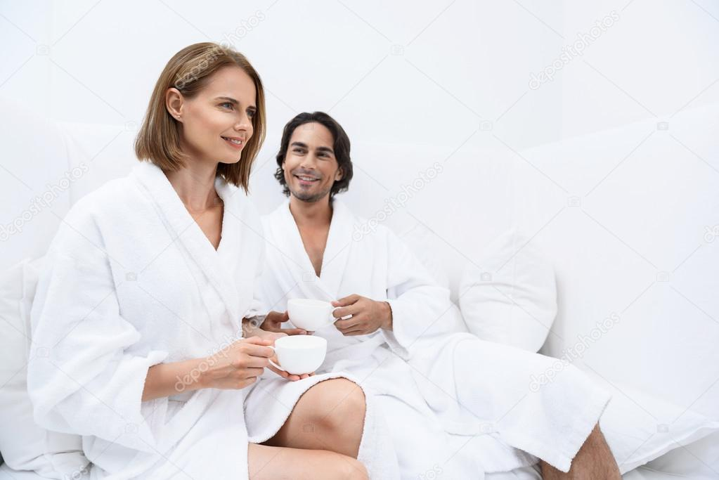 mature women in spa Relaxing a