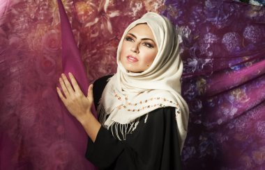 Muslim woman in a traditional dress