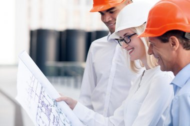 Professional engineers are planning to build construction