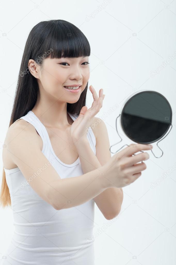 Asian girl finger slim