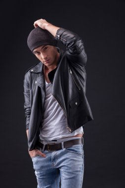 Attractive young rocker with cool image