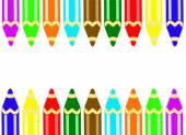 barevné tužky pro kreslení na bílém pozadí