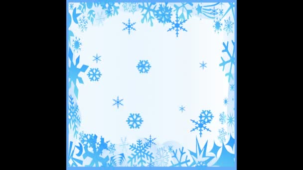 Animation. Falling snowflakes
