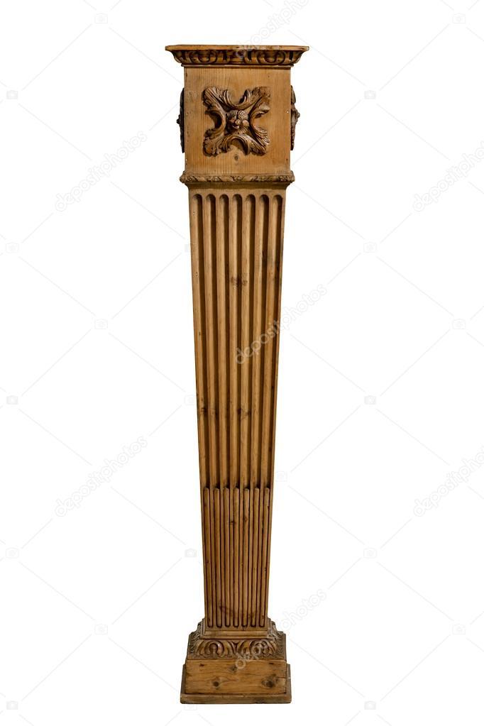 Coluna de pedestal de madeira para a f brica ou est tua stock photo jak30 116689696 - Pedestal para plantas ...