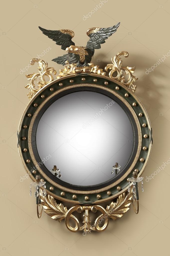 Specchio antico ingresso rotondo dorato foto stock for Specchio rotondo antico