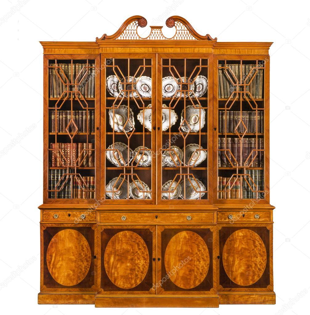 Antieke Boekenkast Mahonie.Boekenkast Dressoir Breakfront Oude Antieke Deze Engels Met Boeken