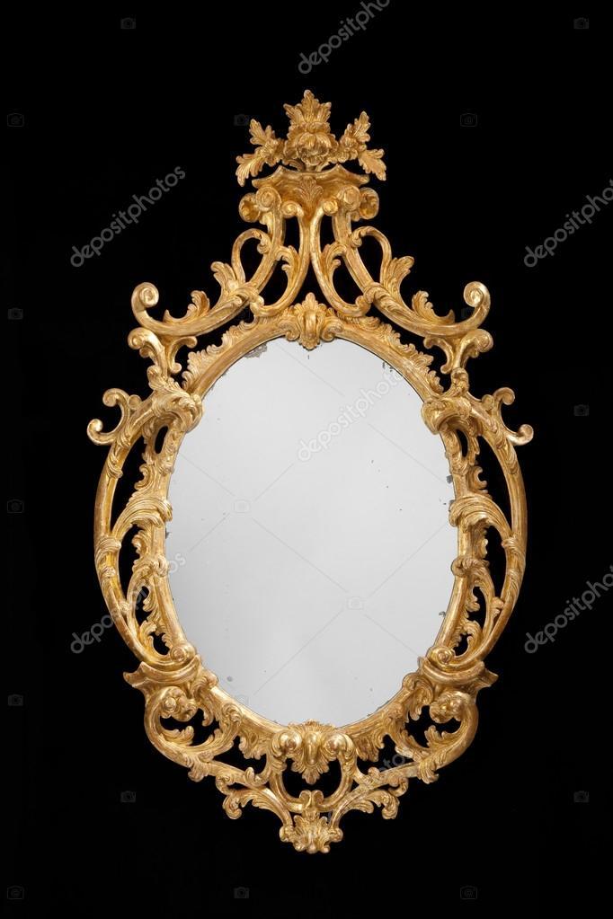 Antique miroir ovale dor avec verre original photographie jak30 88284680 - Miroir ovale sur pied ...